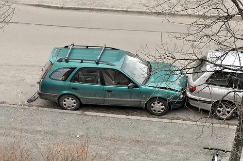 car crash city photo