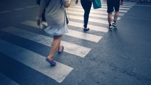 Verkehrsunfall - Verhalten an Fußgängerüberwegen