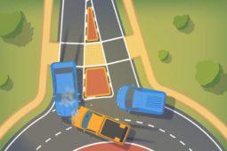 Verkehrsunfall in Kreisverkehr zwischen Einfahrenden und Spurwechsler